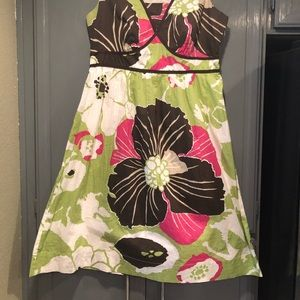 Style & Co Dresses - Style & Co V Neck Dress 100% Cotton Multi-Color